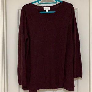 Elle Burgundy tunic sweater
